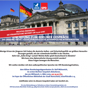 Einladung zum Berliner Gespräch am 11.03.2015