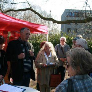 Otto Mähler bei der Diskussion zur Hindenburgstraße