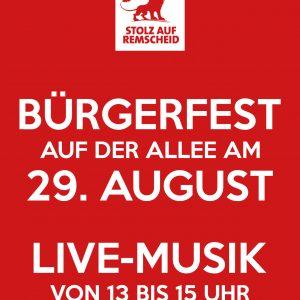 Bürgerfest 2015: Postkartenvorderseite