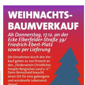 Plakat zum Weihnachtsbaumverkauf 2015 der SPD Stadtmitte / Hasten.