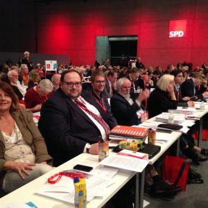 Auf dem Bundesparteitag 2015: Blick in die Delegiertenreihen.