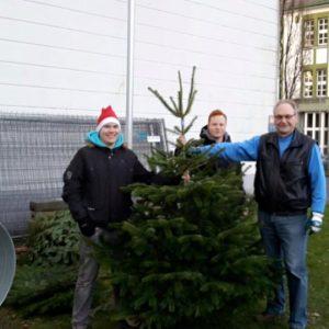Die drei Musketiere des Weihnachtsbaumverkauf 2015 des SPD-Ortsvereins Stadtmitte / Hasten
