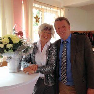 Inge Brenning und Burkhard Mas-Weisz auf de 80. Geburtstag von Inge Brenning.