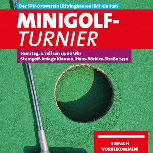 Einladung zum Minigolfturnier 2016 des SPD-Ortsvereins Lüttringhausen