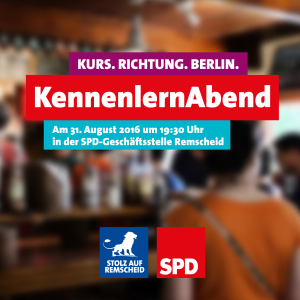 """EInladung zum """"KennenlernAbend"""" von Jusos und AG Migration & Vielfalt am 31.08.2016"""