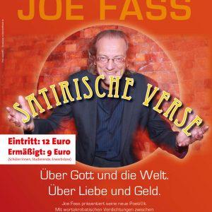 """Veranstaltungsplakat zu """"Satirische Verse"""""""