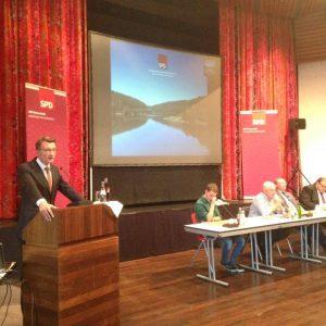 Wahlkreiskonferenz in Radevormwald am 07.09.2016: Sven Wolf am Rednerpult