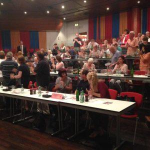 Wahlkreiskonferenz in Radevormwald am 07.09.2016: Applaus für den gewählten Landtagskandidaten