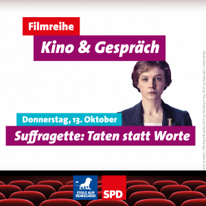 "Flyer zum Film ""Suffragette"""