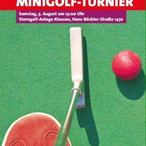Einladungsplakat zum Minigolfturnier am 05.08.2017 der Lüttringhauser SPD.