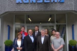 Besichtigung des Remscheider Unternehmens KONSCHA am 15.08.2017.