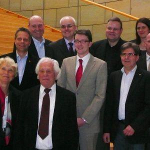 Mitglieder des Lions Club Wilhelm Conrad Röntgen besuchten am 15. März 2011 Sven Wolf im Landtag NRW.