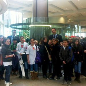 Die Albert-Schweitzer-Realschule präsentierte am 25.01.2012 ein Schulprojekt im Landtag.