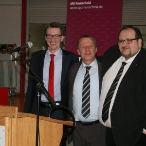 Vollversammlung am 25.01.2014: Die Troika der Remscheider SPD