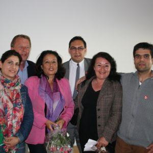 Burkhard Mast-Weisz und die Mitglieder der Integrationsratsliste der SPD nach der Auszählung