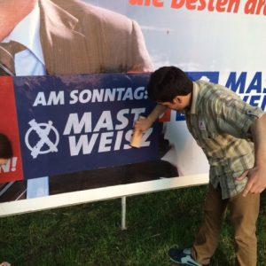 Im Einsatz für Mast-Weisz und die SPD!
