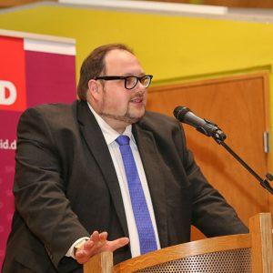 Sven Wiertz auf der a.o. Vollversammlung der Remscheider SPD am 24.09.2014