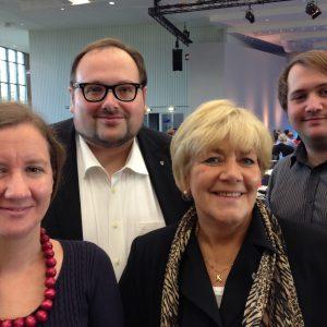Die Remscheider Delegation auf dem Landesparteitag der NRW SPD am 27.09.2014 in Köln.