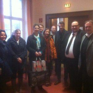 Besuch bei der Einrichtung für Flüchtlinge in Lennep am 19.12.2014.