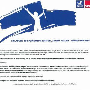 """Einladung zur Podiumsdiskussion """"Starke Frauen früher und heute!"""""""