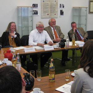 Pressekonferenz der Fraktionen von SPD, CDU, Bündnis90/Die Grünen und FDP im Remscheider Rathaus