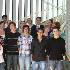 Mitglieder des Remscheider Jugendrates besuchen im September 2010 den Landtag NRW.