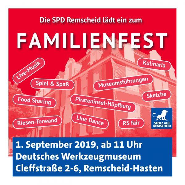 Familienfest 2019 der Remscheider SPD.