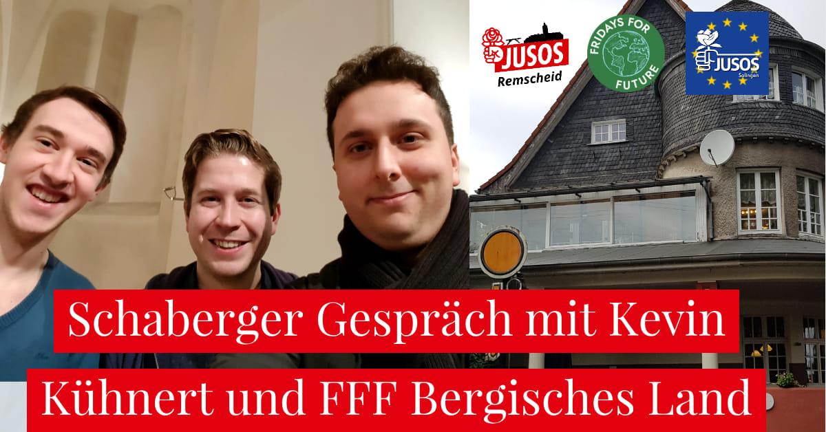 Einladung zum Schaberger Gespräch mit Kevin Kühnert am 10.10.2019.