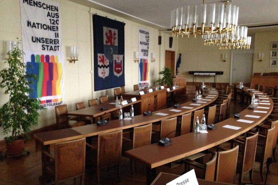 Ratssaal der Stadt Remscheid.