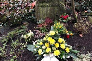 Kranzniederlegung zum 25. Todestag von Robert Schumacher am 13.01.1995 am 18.01.2020.